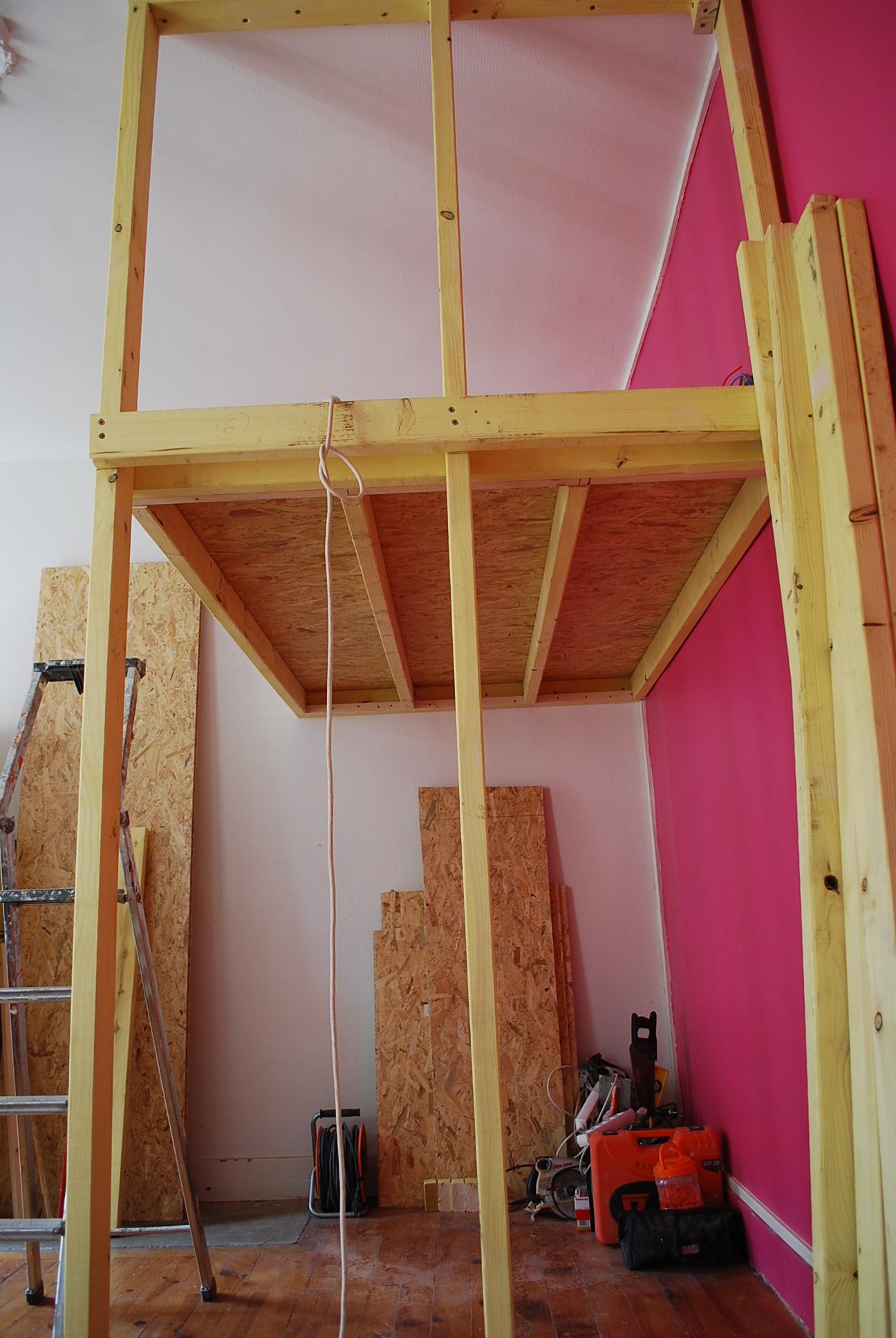 construction OSB-chambre-mezzanine-grenoble